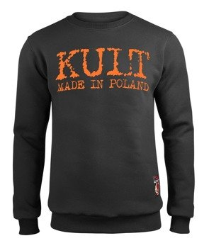bluza KULT - MADE IN POLAND, czarna, bez kaptura