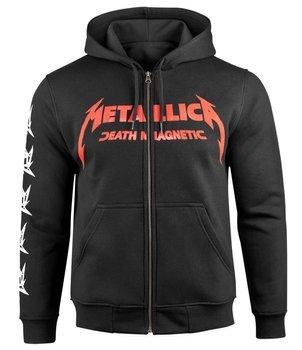 bluza METALLICA - DEATH MAGNETIC czarna, rozpinana z kapturem