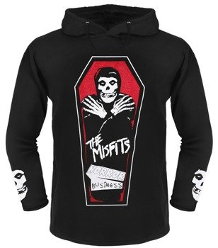 bluza MISFITS - HORROR BUSINESS czarna, z kapturem