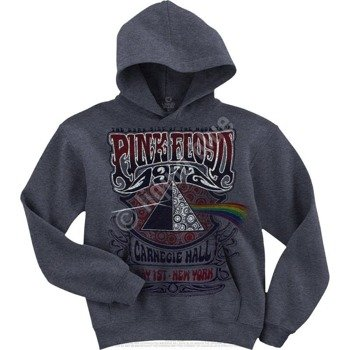 bluza PINK FLOYD - CARNEGIE HALL DARK HEATHER, z kapturem