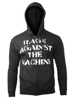 bluza RAGE AGAINST THE MACHINE - LARGE FIST rozpinana, z kapturem