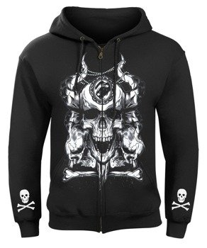 bluza SKULLS AND DIAMOND rozpinana, z kapturem