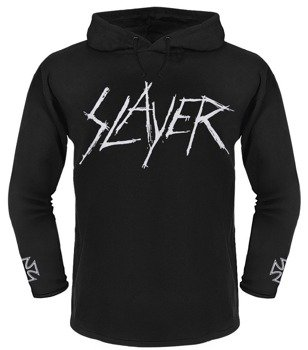 bluza SLAYER - LOGO czarna, z kapturem