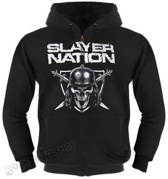 bluza SLAYER - SLAYER NATION czarna, z kapturem