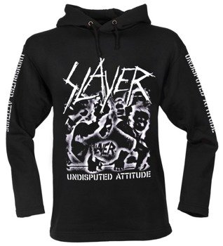 bluza SLAYER - UNDISPUTED ATTITUDE czarna, z kapturem