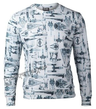 bluza STAR WARS - VEHICLES AND STARSHIPS, bez kaptura