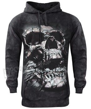 bluza THE MOUNTAIN - BREAKTHROUGH SKULL, kangurka z kapturem, barwiona
