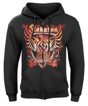 bluza rozpinana SABATON - COAT OF ARMS czarna , z kapturem