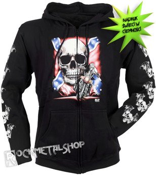 bluza rozpinana z kapturem REBEL SKULL