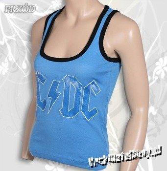 bluzka damska AC/DC - LOGO błękitna, bokserka
