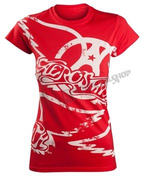 bluzka damska AEROSMITH - RED ALL OVER LOGO