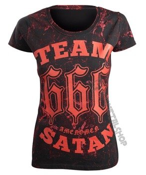 bluzka damska AMENOMEN - TEAM SATAN (OMEN082DA ALLPRINT RED)