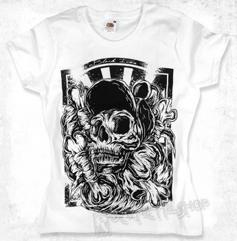 bluzka damska BLACK ICON - SKATE SKULL (DICON035 WHITE)