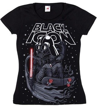 bluzka damska BLACK ICON - VADER (DICON134 BLACK)