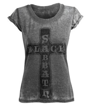 bluzka damska BLACK SABBATH - VINTAGE CROSS BURNOUT