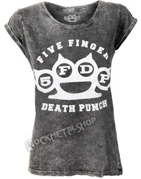 bluzka damska FIVE FINGER DEATH PUNCH - KNUCKLEDUSTER  ACID WASH