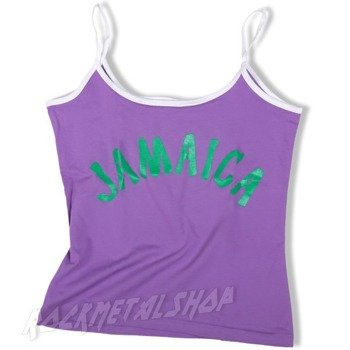 bluzka damska JAMAICA na ramiączkach fioletowa