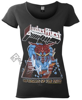 bluzka damska JUDAS PRIEST - DEFENDER OF THE FAITH ciemnoszara