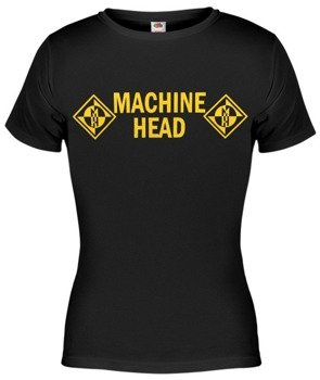bluzka damska MACHINE HEAD - YELLOW LOGO