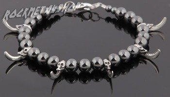 bransoleta SKULLS & CLAWS black