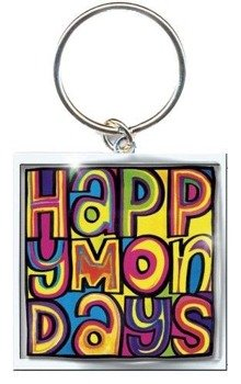 brelok HAPPY MONDAYS - DAYGLO LOGO