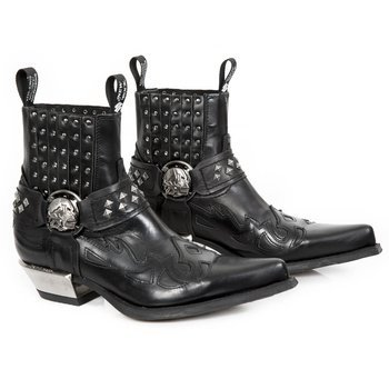 buty NEW ROCK ANTIK NEGRO ITALI NEGRO WEST NEG-ACER TACON ACERO [7950-S1]