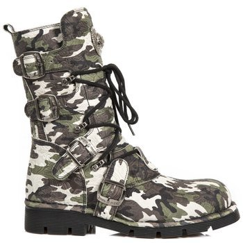 buty NEW ROCK M.1473-S36 VINTAGE FLOWER CAMUFLAGE**, PLANING NEGRO SIN