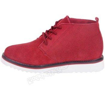 buty zamszowe NEW AGE - CZERWONE / RED (WS1272)