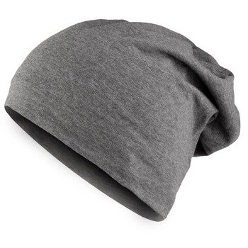 czapka MASTERDIS - JERSEY BEANIE heather charcoal