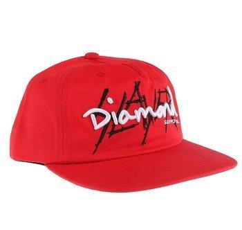 czapka SLAYER - DIAMOND czerwona