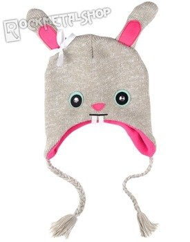 czapka zimowa FREAKS AND FRIENDS - GREY MARLED BUNNY KNIT