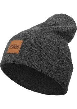 czapka zimowa LEATHERPATCH LONG BEANIE charcoal