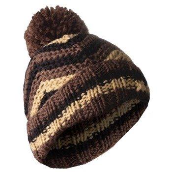 czapka zimowa MASTERDIS - BEANIE ZIG ZAG brown/wheat