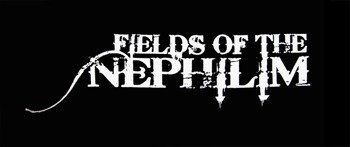 ekran FIELDS OF THE NEPHILIM - WHITE LOGO