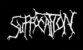 ekran SUFFOCATION - WHITE LOGO