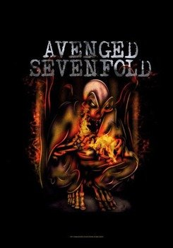 flaga AVENGED SEVENFOLD - FIRE BAT