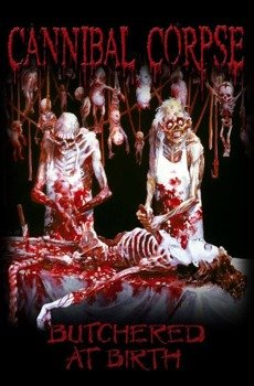 flaga CANNIBAL CORPSE - BUTCHERED AT BIRTH