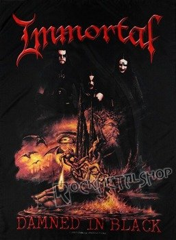 flaga IMMORTAL - DAMNED IN BLACK