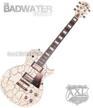 gitara elektryczna AXL BADWATER 1216 / CRACKLE BROWN WHITE