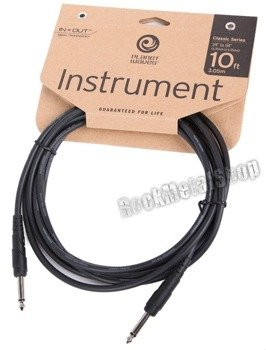 kabel gitarowy 3,05m PLANET WAVES CLASSIC jack prosty/prosty (PW-CGT-10)