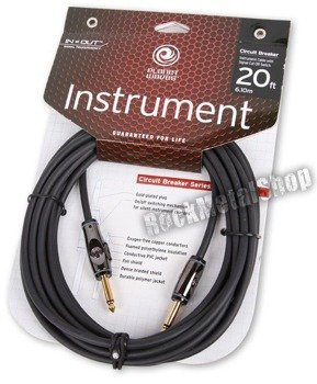 kabel gitarowy 6,10m PLANET WAVES CIRCUIT BREAKER jack prosty/prosty (PW-AG-20)