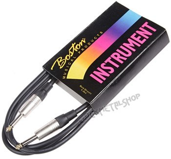 kabel gitarowy BOSTON GC-105-2BK BLACK 2m jack prosty/prosty