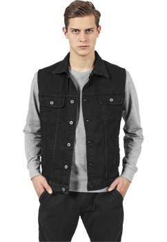 kamizelka DENIM VEST black dark