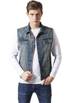 kamizelka DENIM VEST lightblue
