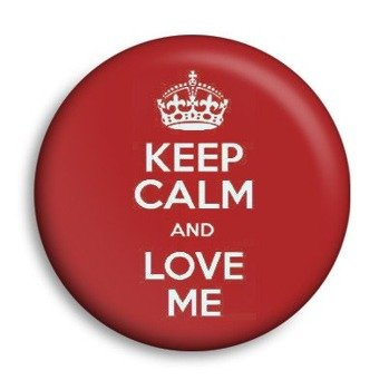 kapsel KEEP CALM AND LOVE ME Ø25mm