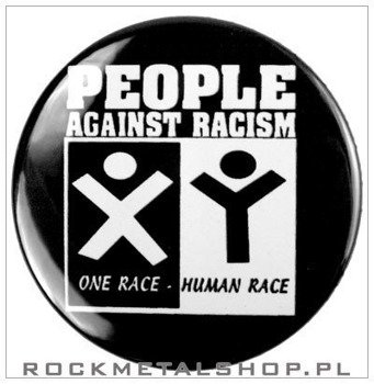 kapsel PEOPLE AGAINST RACISM średni