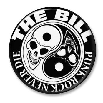 kapsel THE BILL - PUNK ROCK NEVER DIE black