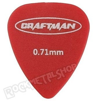 kostka gitarowa CRAFTMAN - MATTE ABS RED WP-600Q