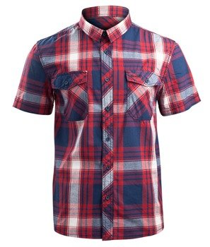 koszula ROADSTAR SHIRT, 1/2 SLEEVE - RED/NAVY/WHITE