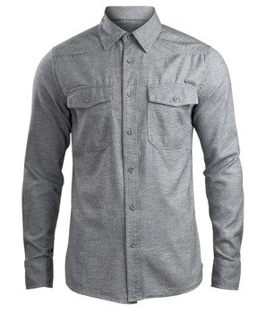 koszula SHIRT IN TWEEDOPTIC grey-off white